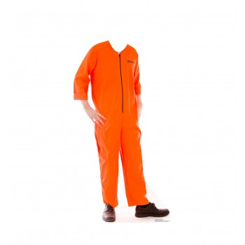 Inmate Orange Jump Suit Standin Cardboard Cutout - $39.95