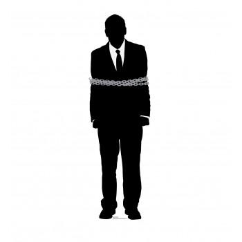 Prisoner Silhouette Cardboard Cutout