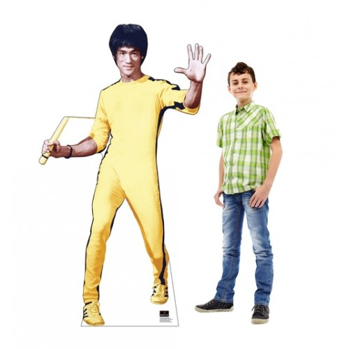 Bruce Lee Yellow Jumpsuit Cardboard Cutout