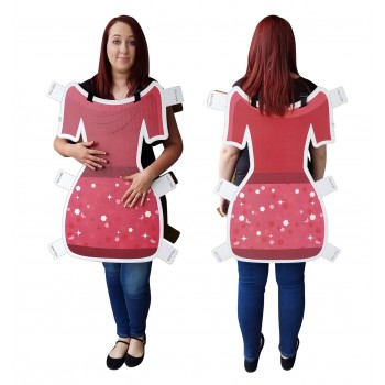 Dress Paper Doll Costume Cardboard Cutout