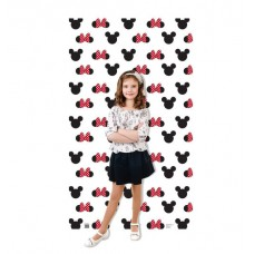 Mickey and Minnie Ears and Bow Step and Repeat