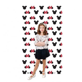 Mickey and Minnie Ears and Bow Step and Repeat Cardboard Cutout