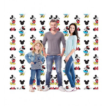 Mickey and Minnie Double Wide Step and Repeat Cardboard Cutout