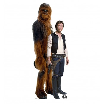 Han Solo and Chewbacca (Star Wars 40th) Cardboard Cutout - $39.95