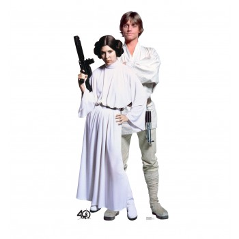 Luke and Leia (Star Wars 40th) Cardboard Cutout - $39.95