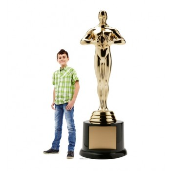 Trophy Award Standup with Base Cardboard Cutout