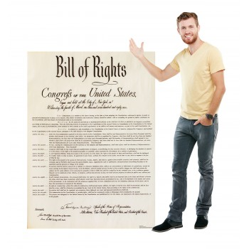 Bill of Rights Cardboard Cutout - $39.95