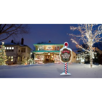 North Pole Yard Sign  Coroplast Cutout Cardboard Cutout - $39.95