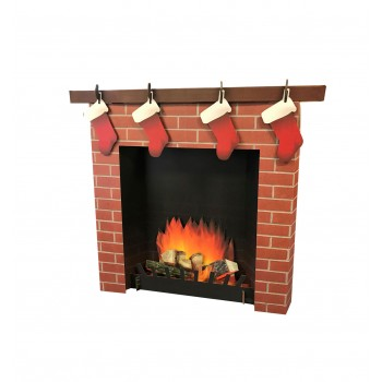 3D Fireplace Cardboard Cutout - $39.95