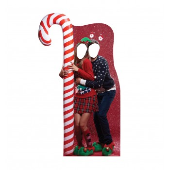 Ugly Christmas Sweater w/ Candy Cane Standin Cardboard Cutout - $39.95
