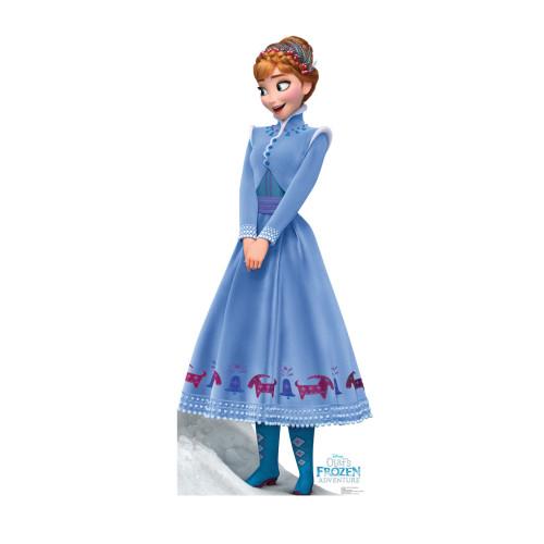 Anna Disneys Olafs Frozen Adventure Cardboard Cutout