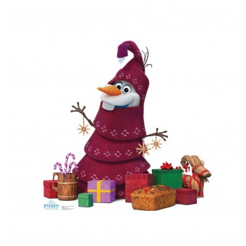 Olaf Knitted Tree Disneys Olafs Frozen Adventure Cardboard Cutout - $39.95