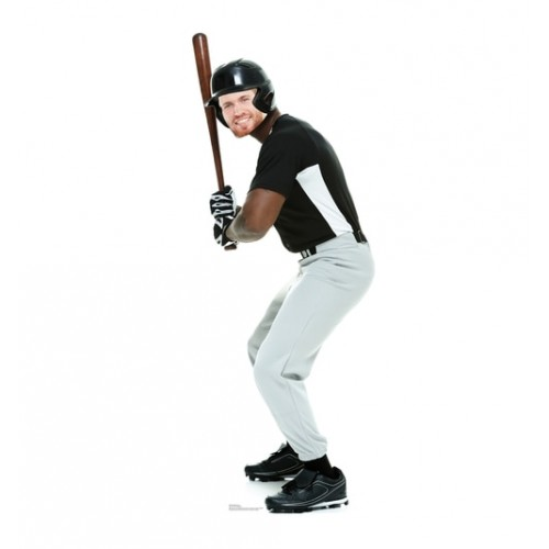 Baseball Player Stand-in Cardboard Cutout