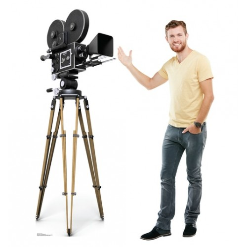 Hollywood Camera Cardboard Cutout
