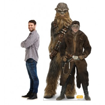 Han Solo and Chewbacca (Star Wars Han Solo Movie) Cardboard Cutout - $39.95