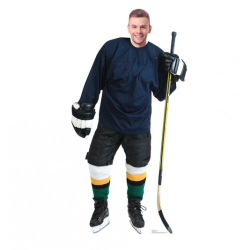 Hockey Player Standin Cardboard Cutout