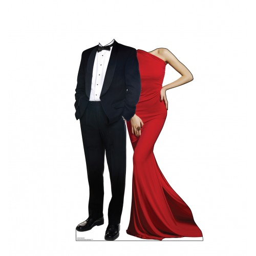 Red Carpet Couple Standin Cardboard Cutout