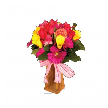 Bouquet of Flowers Cardboard Cutout