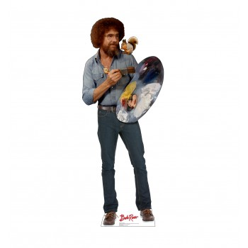 Bob Ross and Friend Cardboard Cutout - $39.95