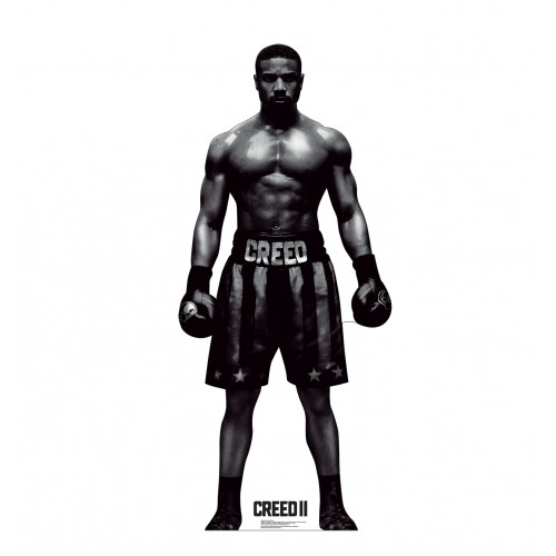 Adonis Creed Black and White Creed 2 Cardboard Cutout