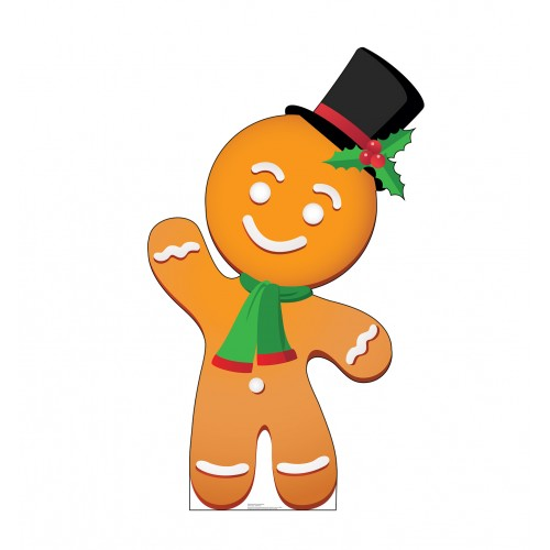 Illustrated Gingerbread Man Christmas