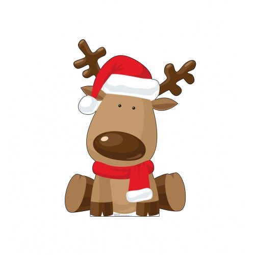 Ilustrated Reindeer Christmas