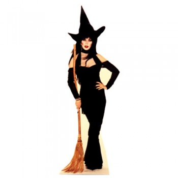 Elvira Broom Cardboard Cutout - $39.95