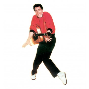 Elvis Presley - Red Sweater TALKING Cardboard Cutout - $49.95