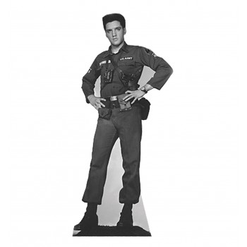 Elvis Presley - Army Fatigues - TALKING Cardboard Cutout - $49.95