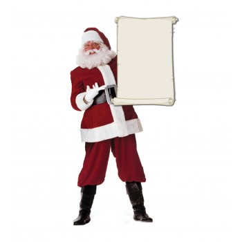 Santa Claus with Blank List Cardboard Cutout - $39.95