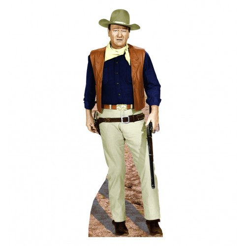 John Wayne Rifle at Side Cardboard Cutout