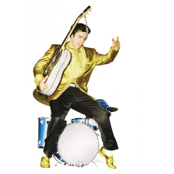 Elvis Presley with Drums -TALKING Cardboard Cutout - $49.95