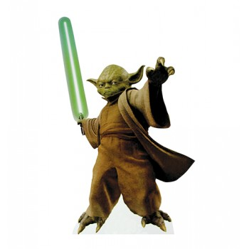 Yoda with Lightsaber Star Wars Cardboard Cutout - $39.95