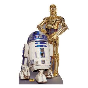 R2 D2, and C 3P0 Star Wars Cardboard Cutout - $39.95