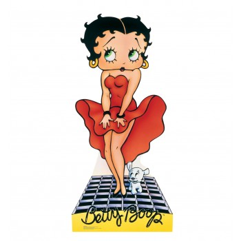 Betty Boop Red Dress Cardboard Cutout