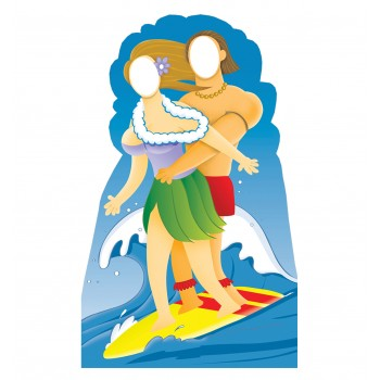 Surfer Couple Stand In Cardboard Cutout - $39.95
