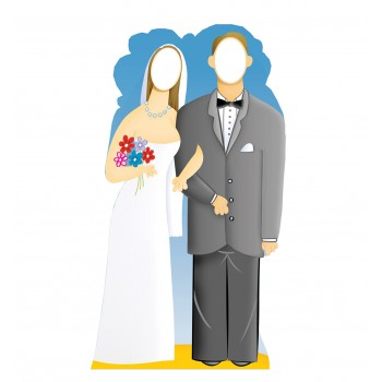 Wedding Couple Stand In Cardboard Cutout - $39.95