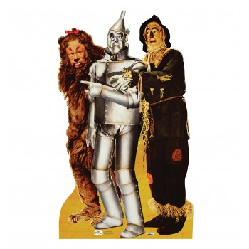 Lion Tinman, and Scarecrow Wizard of Oz Cardboard Cutout