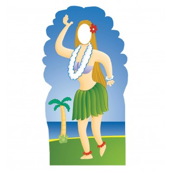 Hula Girl Stand In Cardboard Cutout - $39.95
