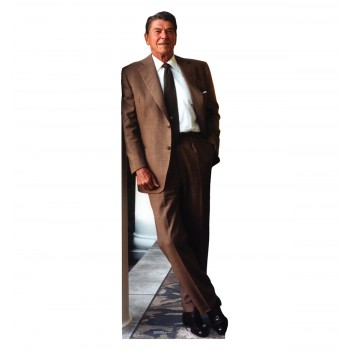 Pres. Ronald Reagan - Brown Suit Cardboard Cutout - $39.95