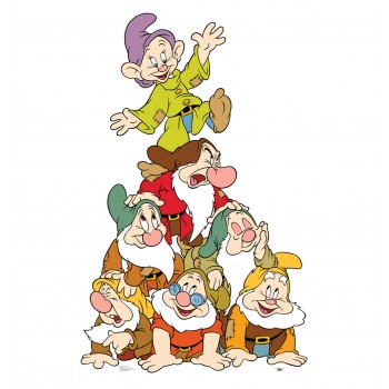 Seven Dwarfs Group Cardboard Cutout