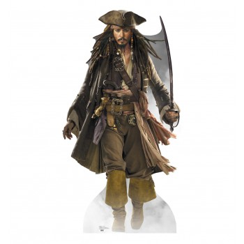 Capt Jack Sparrow Walking POTC: At Worlds End Cardboard Cutout
