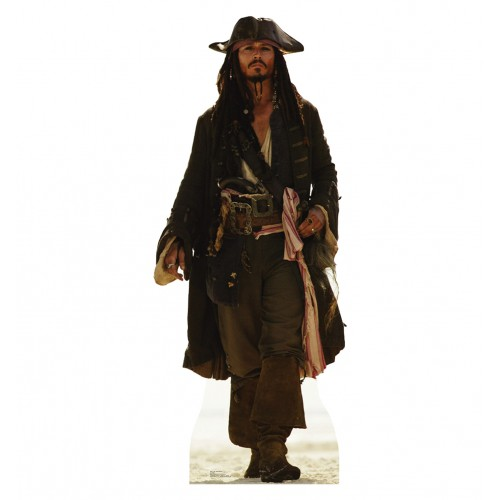 Capt Jack Sparrow POTC: Curse of the Black Pearl Cardboard Cutout