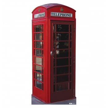 English Phone Booth Cardboard Cutout