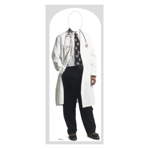Doctor Stand In Cardboard Cutout