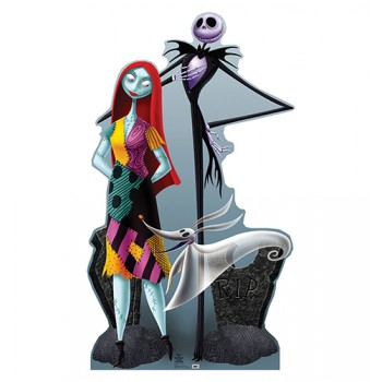 Jack, and Sally Nightmare Before Chirstmas Cardboard Cutout