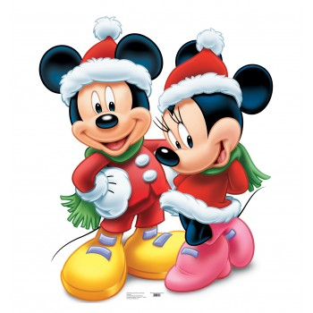 Mickey & Minnie Christmas Cardboard Cutout - $39.95