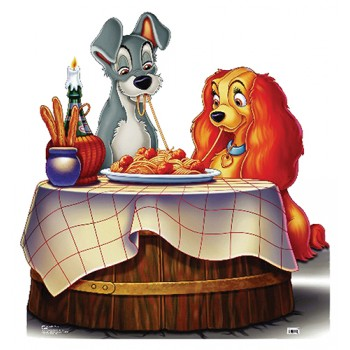 Lady and the Tramp Cardboard Cutout