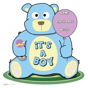 It s A Boy Teddy Bear Cardboard Cutout - $24.95