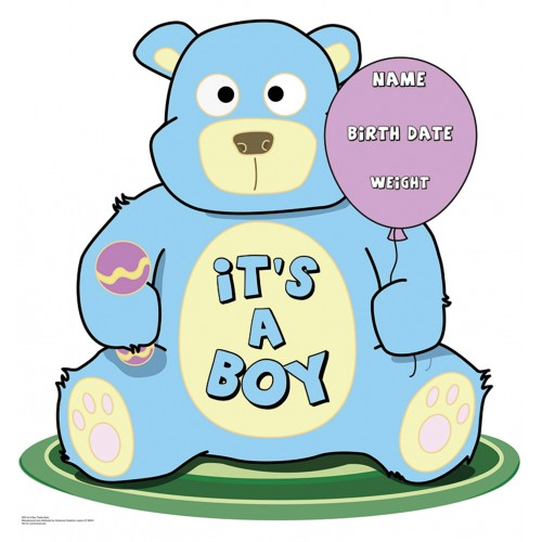 It s A Boy Teddy Bear Cardboard Cutout